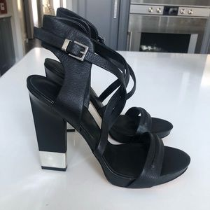 Brand new black Marciano leather sandals